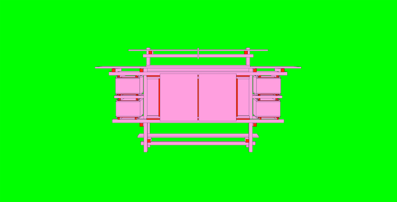 "Michael Craig-Martin: ""Design and Architecture (Gerrit Rietveld - part 1 of diptychon)"" (2017)"
