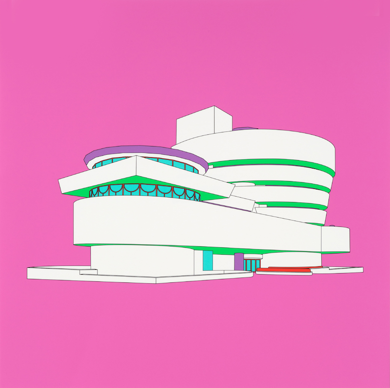 "Michael Craig-Martin: ""Plan and Elevation (Guggenheim - part 2 of diptychon)"" (2017)"