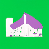 Michael Craig-Martin - Plan and Elevation (Ronchamp, France - part 2 of diptychon)