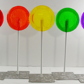 Peter Anton - Cherry, Orange, Lemon, Lime and Grape Lollipops, 2014, mixed media